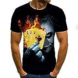 BRQ - Camiseta de payaso para hombre, diseño de cara de Joker con impresión 3D en 3D, tamaño XXS-6X (color: A6, talla 6XL)
