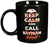 Batman Tasse, Porzellan, ca. 300ml Keep Calm, Stay Crazy and Call Joker-0122041 Taza, cerámica, Negro, 12 x 7.5 x 9.3000000000000007 cm