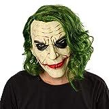 YTO COS Máscara de Halloween, Caballero Oscuro Batman Joker Joker Máscara de látex Sombrero