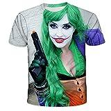 The Joker - Camiseta unisex con impresión 3D de verano, cuello redondo, para hombre, deporte, ocio, manga corta 11 XXXXL
