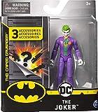 DC Comics Batman, Figura de acción The Joker de 4 Pulgadas con 3 Accesorios misteriosos, Misión 1