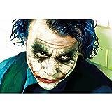 GREAT ART® XXL Póster – Joker – Mural De Retrato Heath Ledger, Batman El Caballero Oscuro Payaso Película, Gotham Villano Héroe Cómico Cartel...
