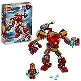 LEGO Super Heroes - Armadura Robótica de Iron Man, Juego de Construcción de Figura de Acción Mecánica de Juguete, Set de Meca Coleccionable...